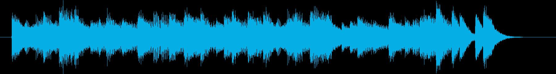 懐かしいメロのリズミックなピアノジングルの再生済みの波形