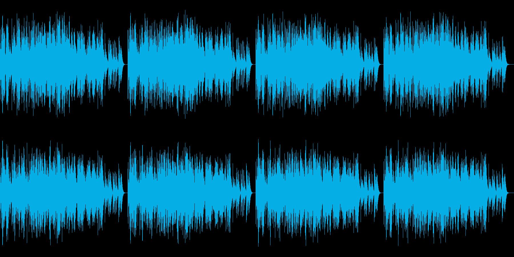 「もろびとこぞりて」オルゴールの再生済みの波形