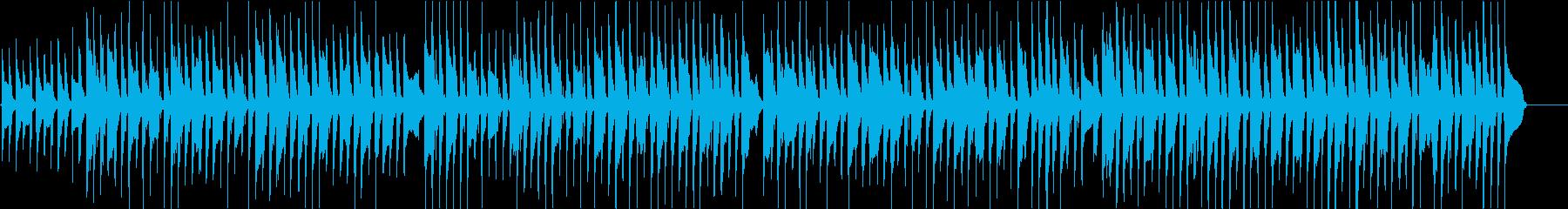 マイナー調のコミカルなアコースティックの再生済みの波形