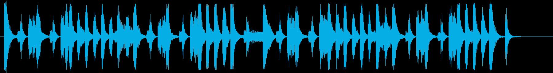 元気のいいポップなブラスジングル 18秒の再生済みの波形