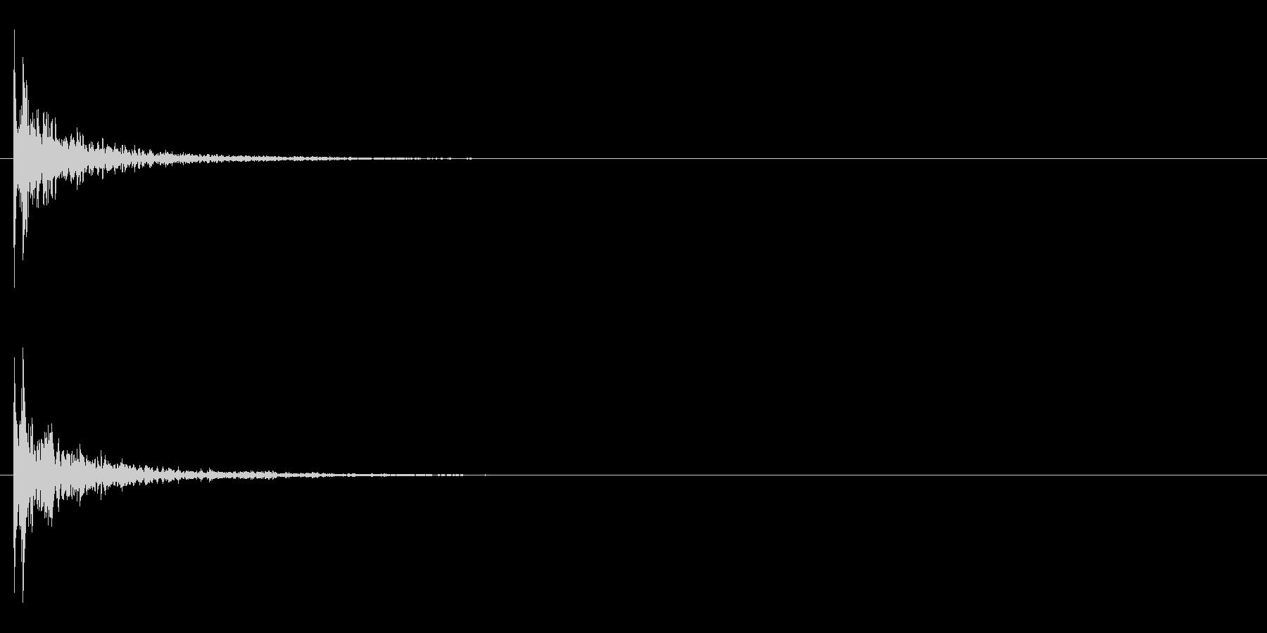 SE 一丁柝(拍子木)の未再生の波形