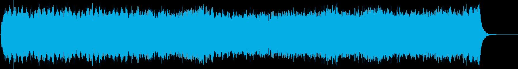 大聖堂に響くパイプオルガンと合唱団風の再生済みの波形