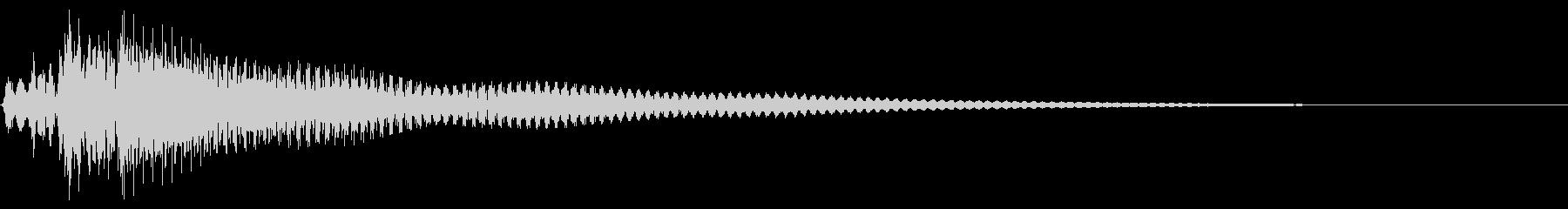 あたたかい ストローク ナイロンギターの未再生の波形