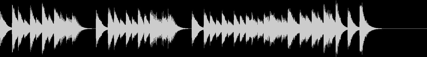 愛々しいメロディのコミカルピアノジングルの未再生の波形