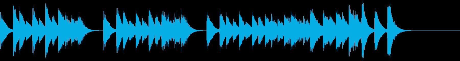 愛々しいメロディのコミカルピアノジングルの再生済みの波形