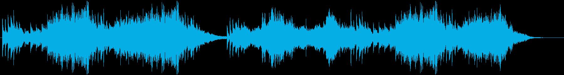 幻想的な森をイメージしたピアノ楽曲の再生済みの波形