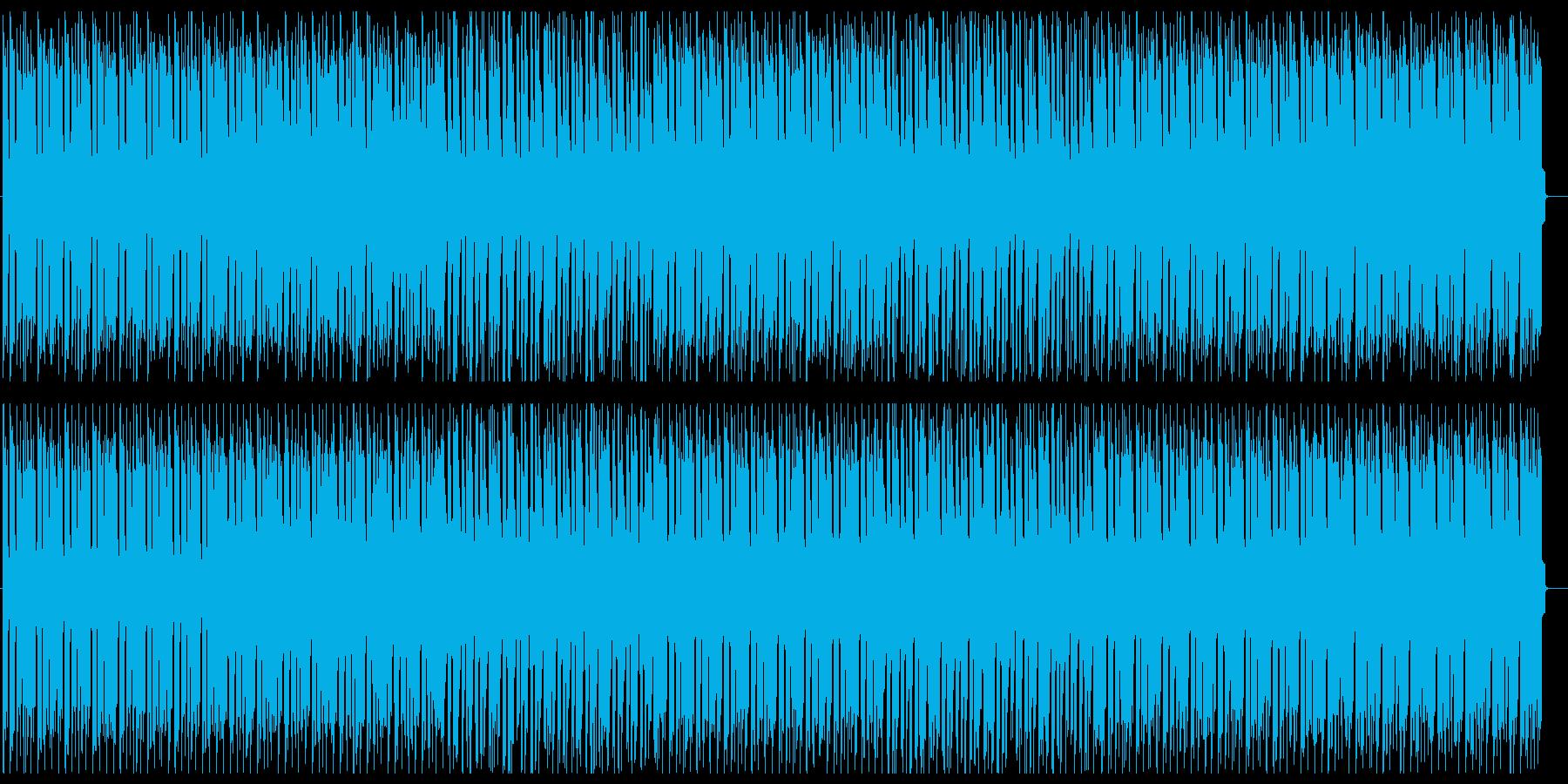 デジタルなファンクミュージックの再生済みの波形