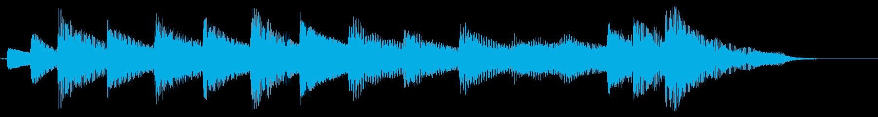 【ジングル】穏やかで明るいピアノソロの再生済みの波形