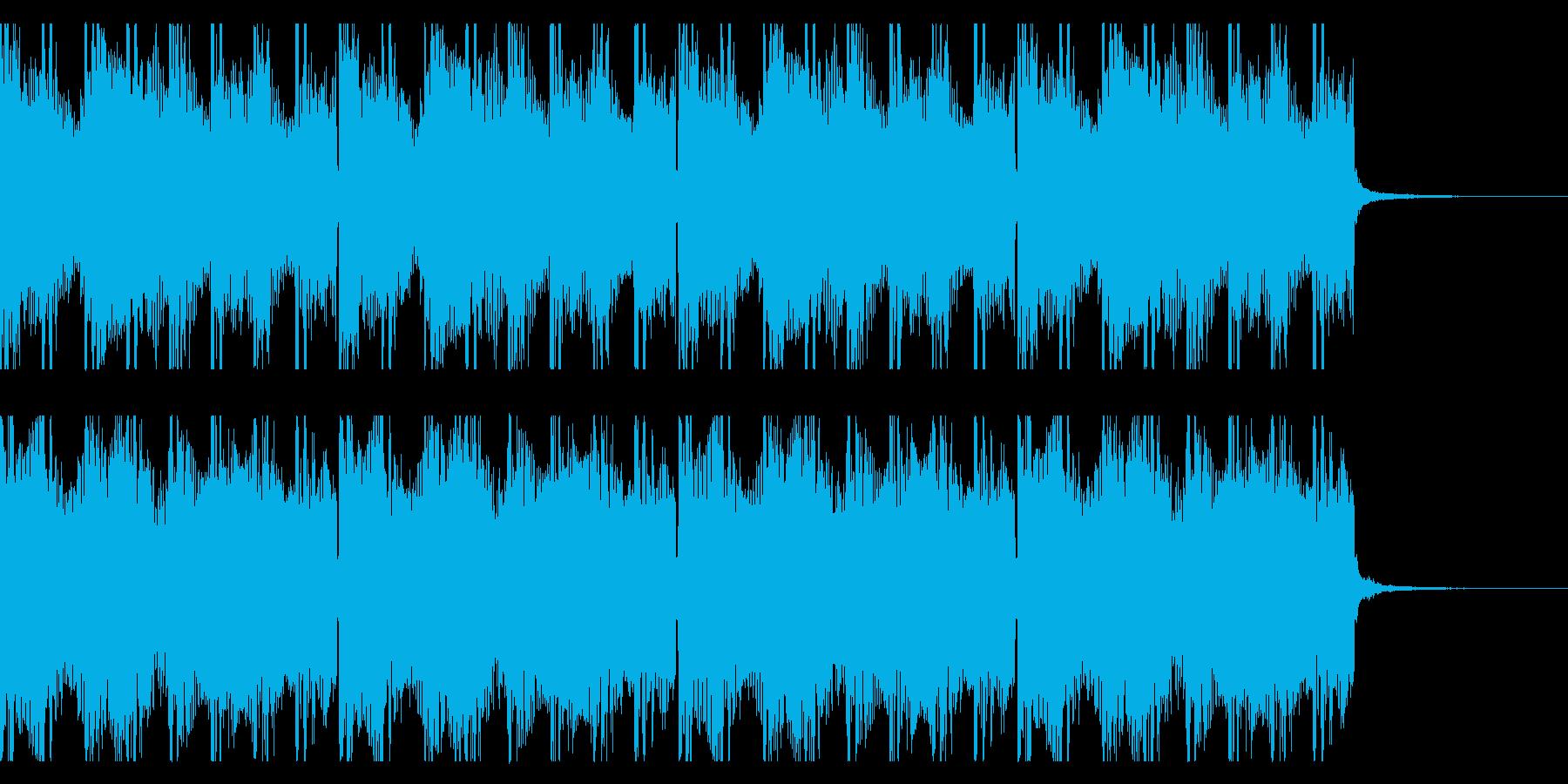 緊張感のあるアンビエントBGMの再生済みの波形