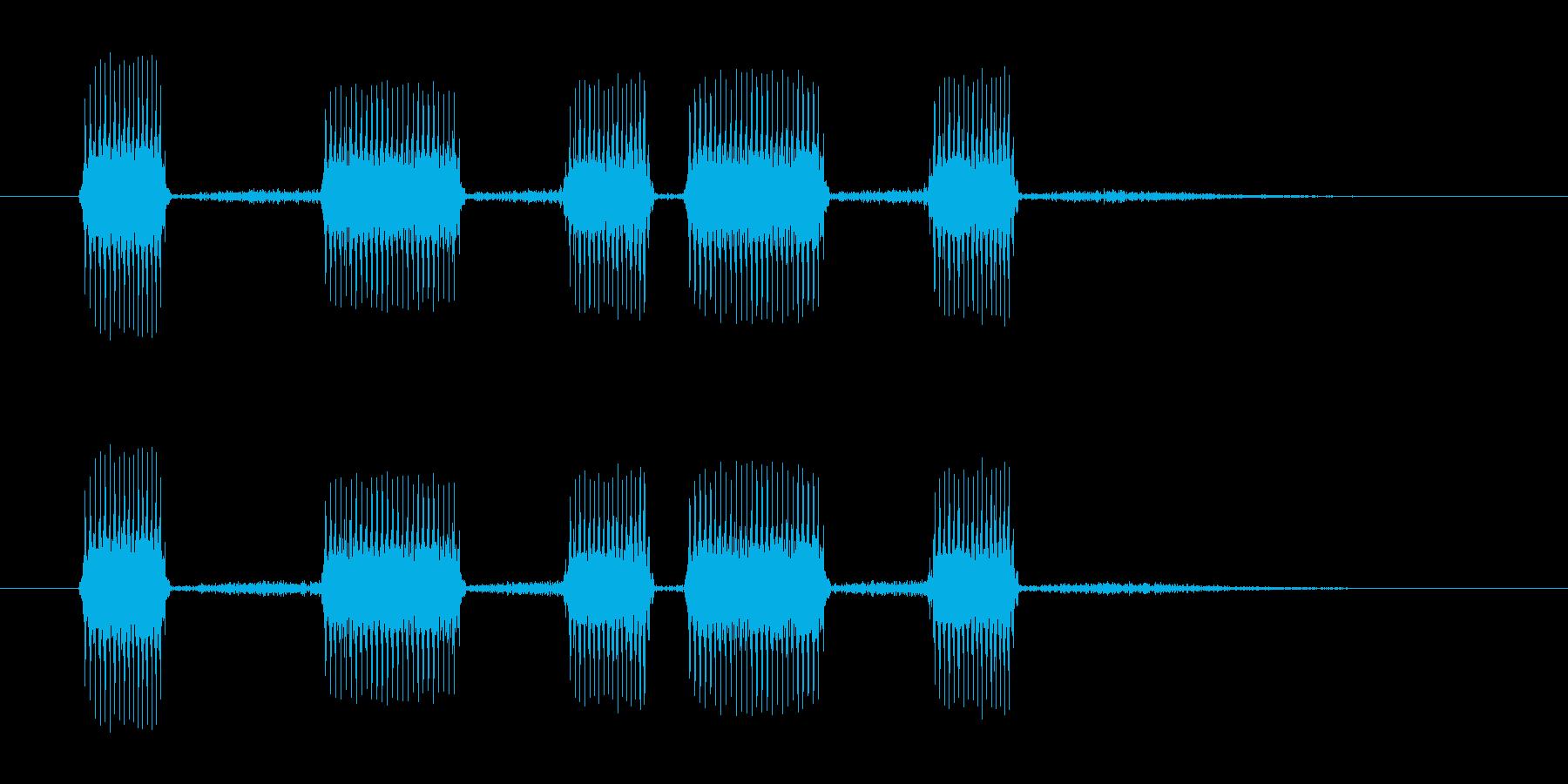 おもちゃラッパ・子供のサンダルみたいな音の再生済みの波形
