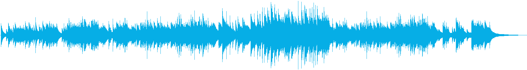 ノスタルジックで穏やかなピアノ曲の再生済みの波形