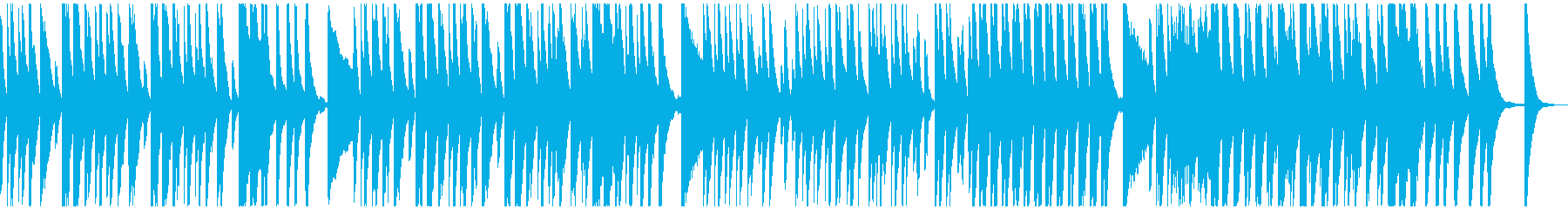 ベルとピアノの楽しく軽快なラグタイム風の再生済みの波形