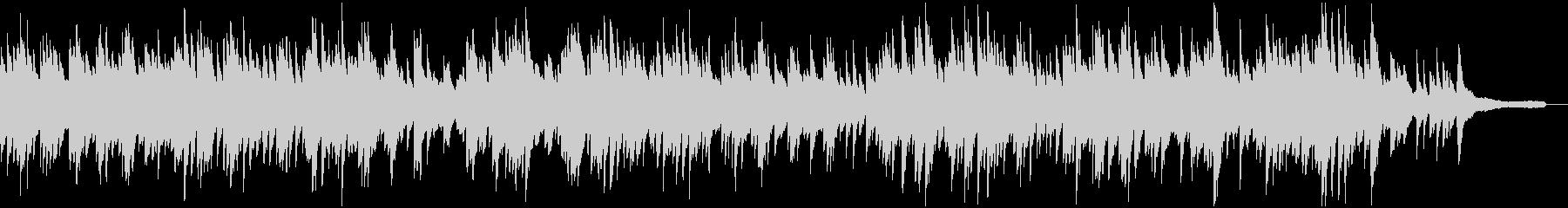 スローテンポの優しいピアノソロの未再生の波形