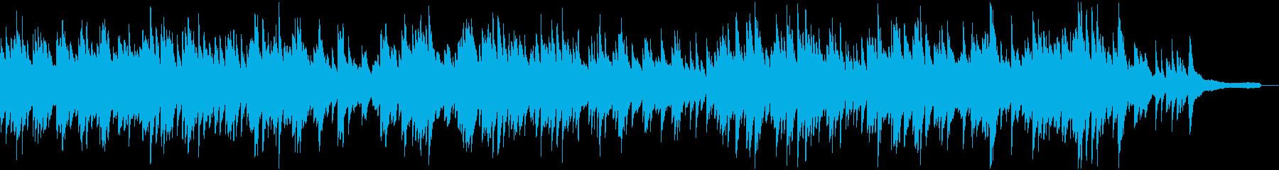 スローテンポの優しいピアノソロの再生済みの波形