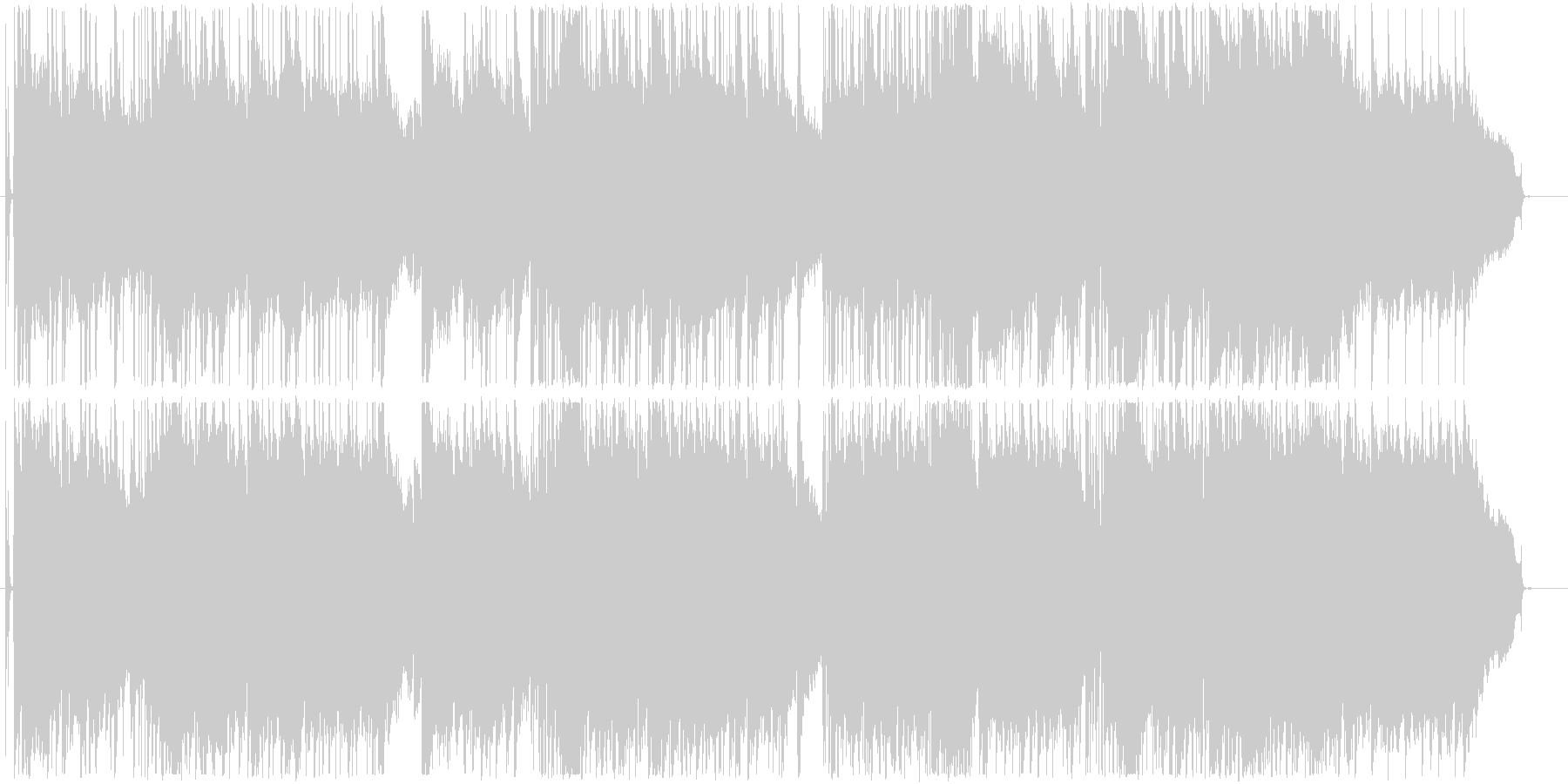 悪い奇跡の未再生の波形