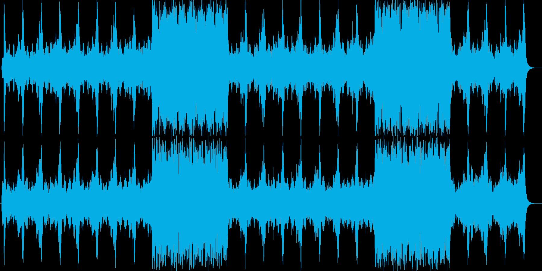壮大で旋律のオーケストラサウンドの再生済みの波形