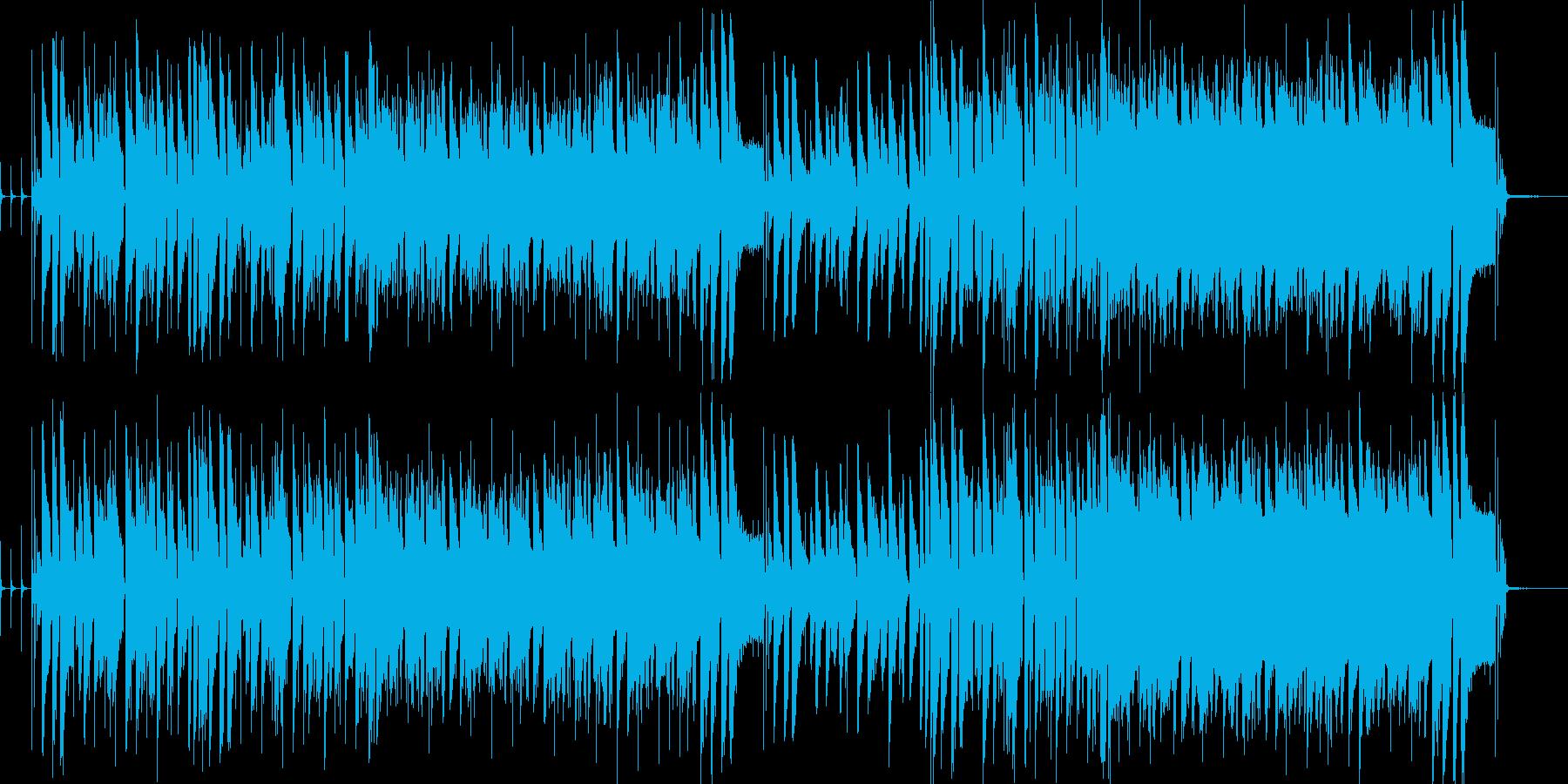 ジャジーなピアノインストの再生済みの波形