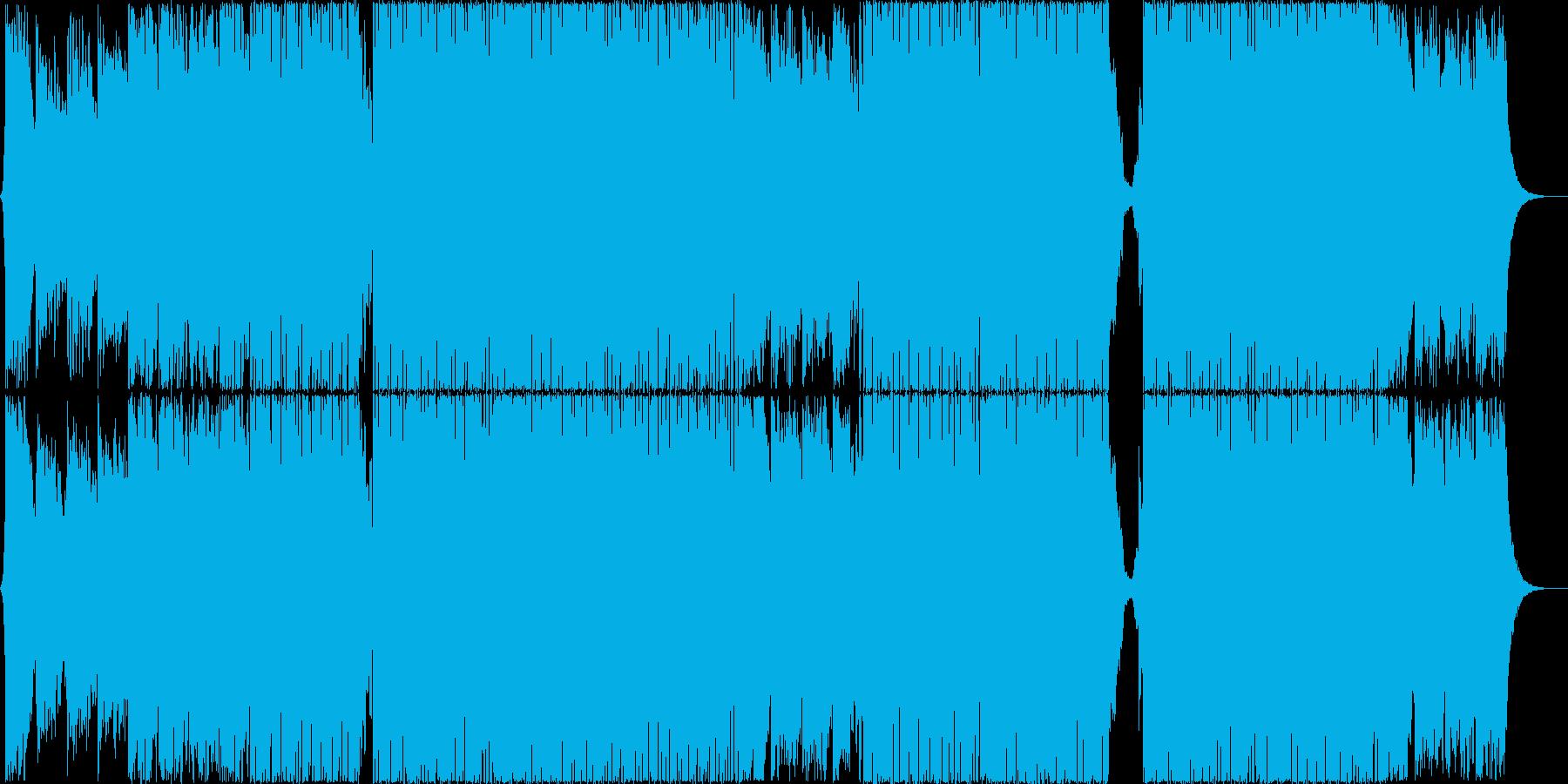 ダウンテンポの美しいEDMの再生済みの波形