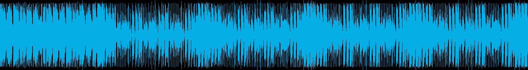 ダンスエクササイズBPM120:ループ版の再生済みの波形