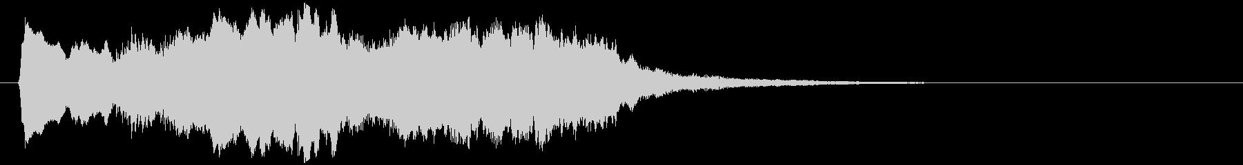 ゆったりしたバイオリンとハープのジングルの未再生の波形