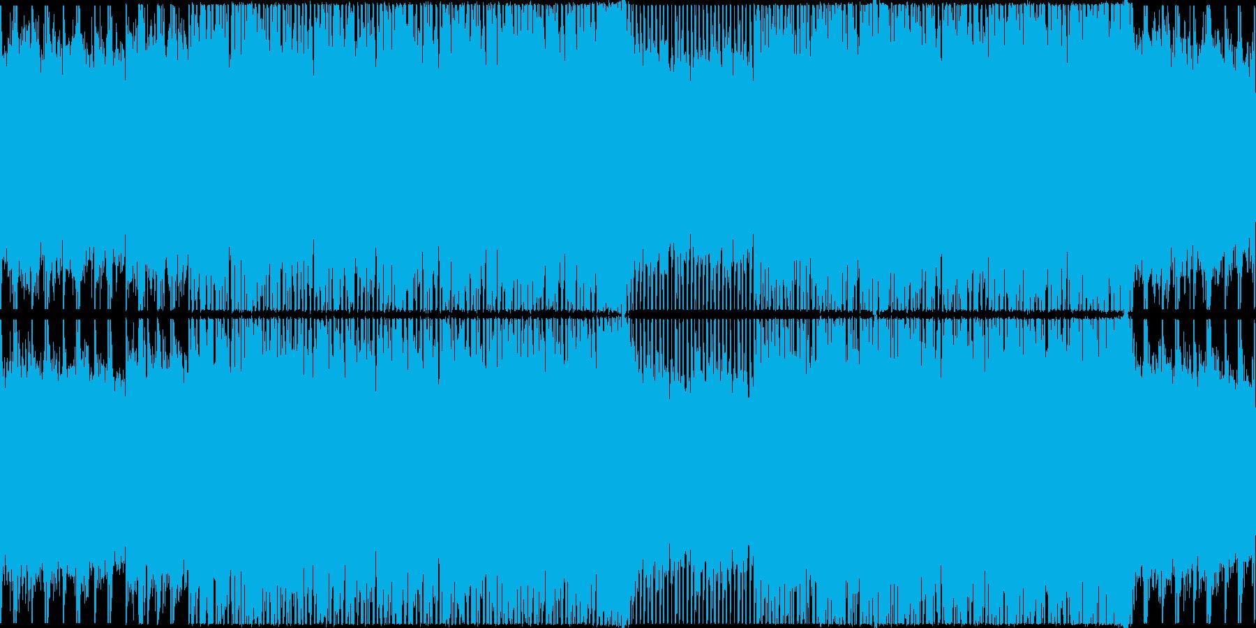 【ループ】お洒落で軽快なクール系テクノの再生済みの波形
