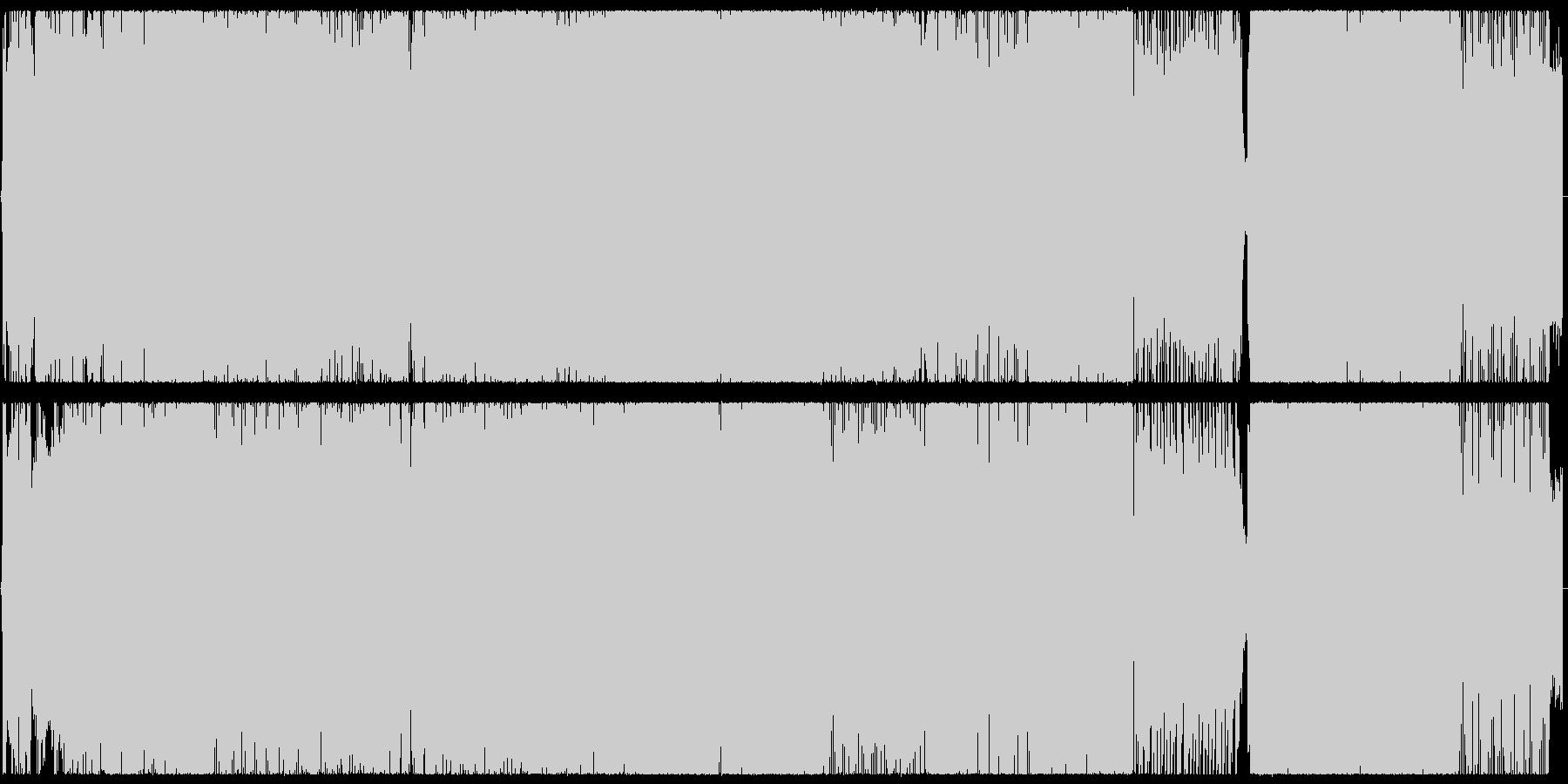 ツインボーカルのオルタナティブロックの未再生の波形