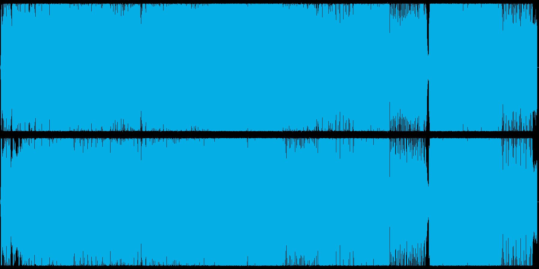 ツインボーカルのオルタナティブロックの再生済みの波形