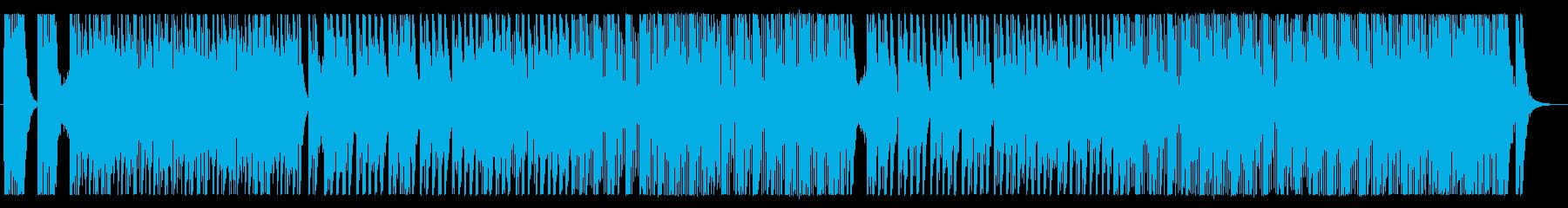 荒々しい和太鼓アンサンブルの再生済みの波形