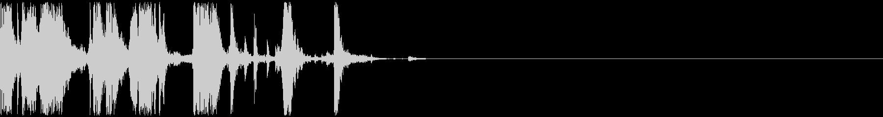 キリキリとガラスを擦る音 15の未再生の波形
