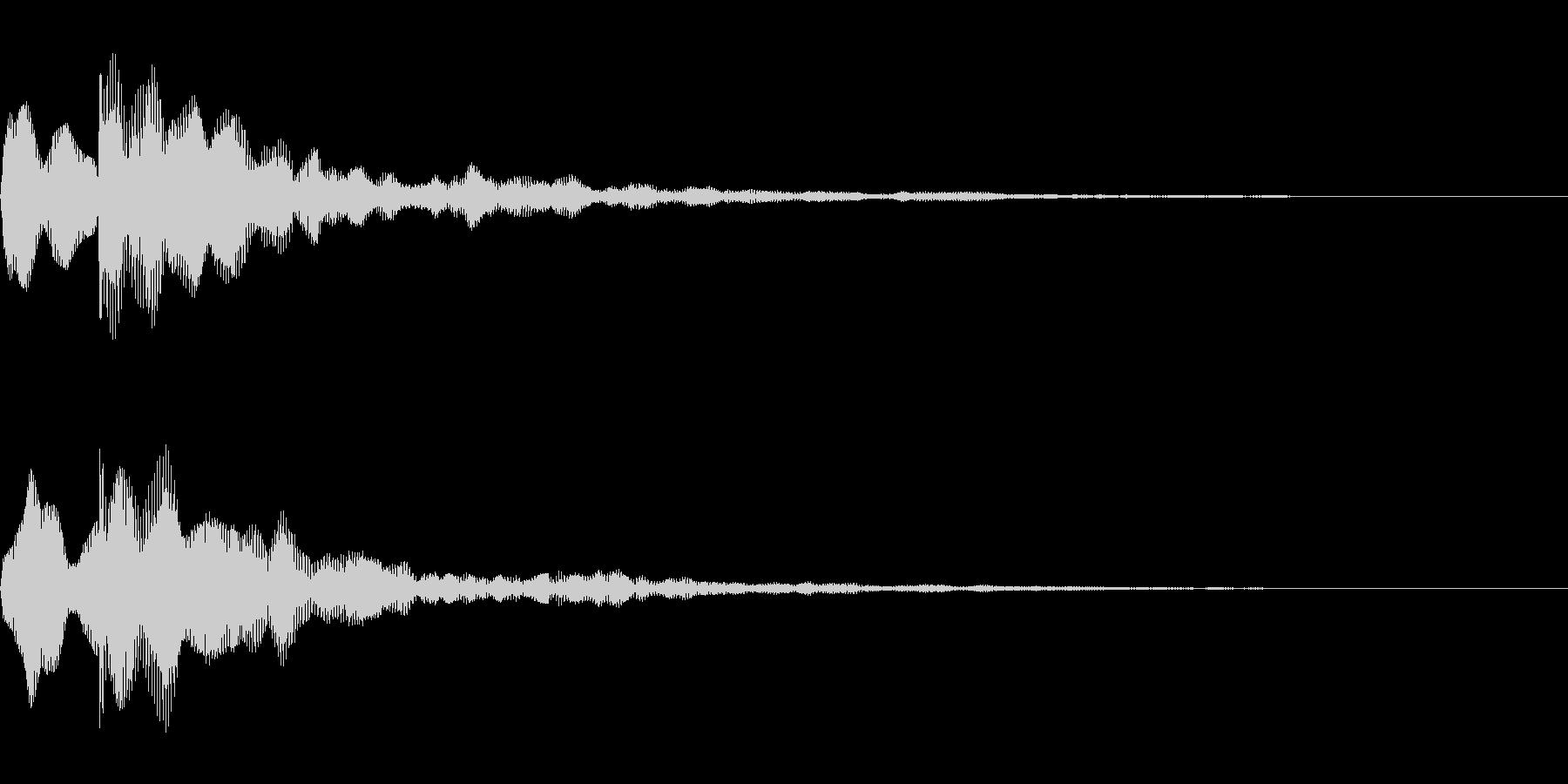 テロップ音~暗めの分散2音~の未再生の波形