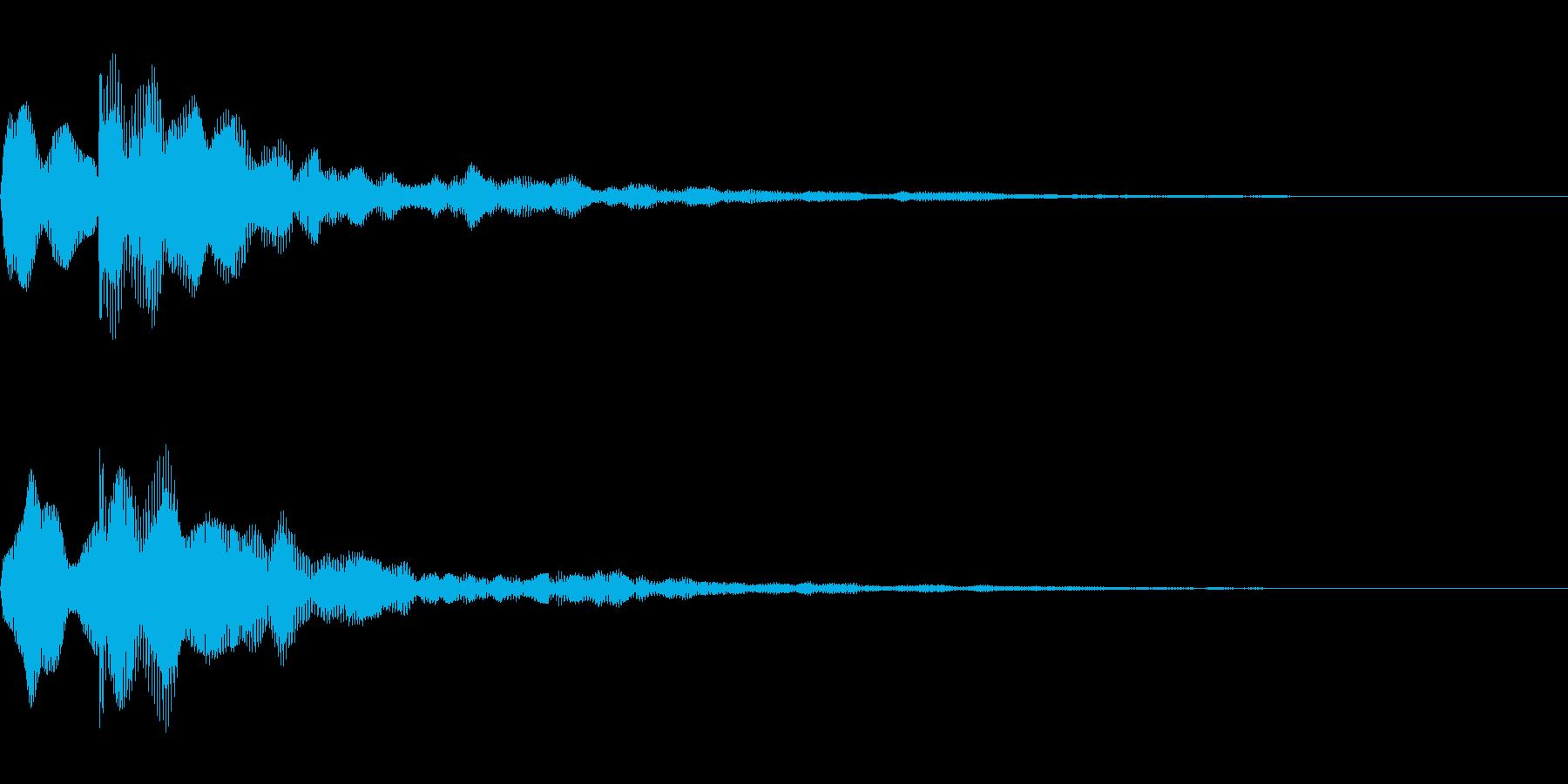 テロップ音~暗めの分散2音~の再生済みの波形