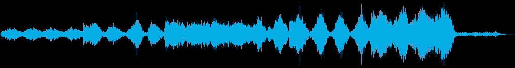 都市の夜明けをイメージした映画音楽系の再生済みの波形