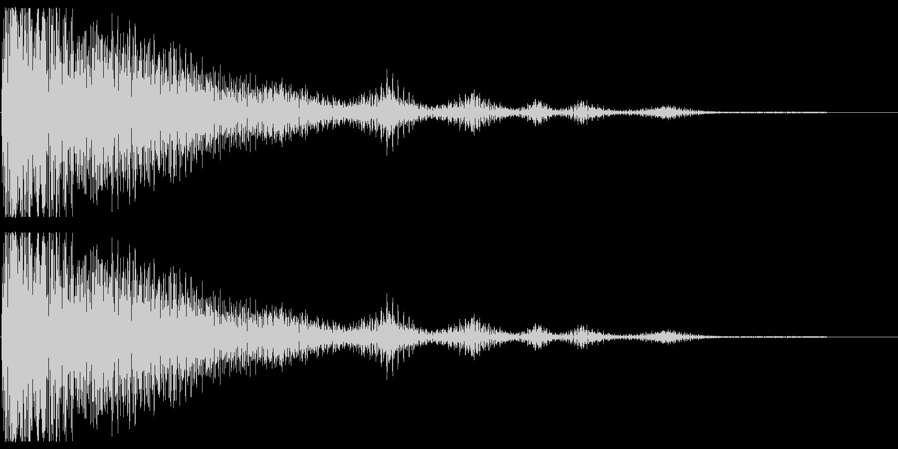 残念なイメージの効果音の未再生の波形
