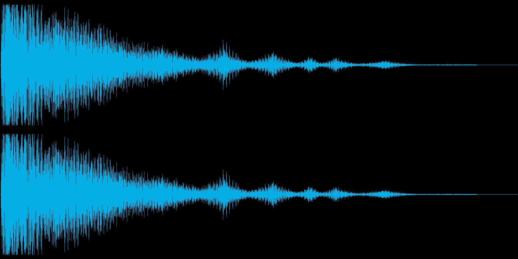残念なイメージの効果音の再生済みの波形