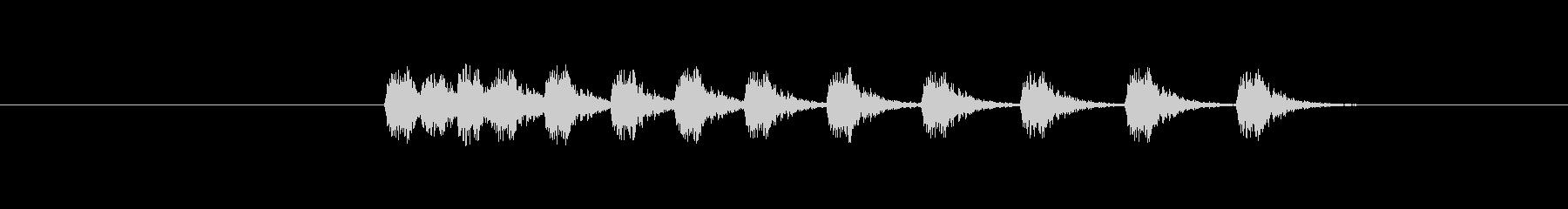 特撮 タイプライター02シーケンス03の未再生の波形