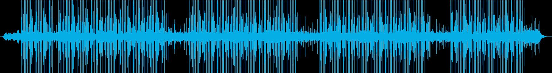 怪しい雰囲気のBGMの再生済みの波形