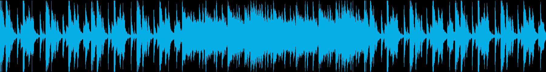 ゆったりコミカル/静かめ/ループの再生済みの波形