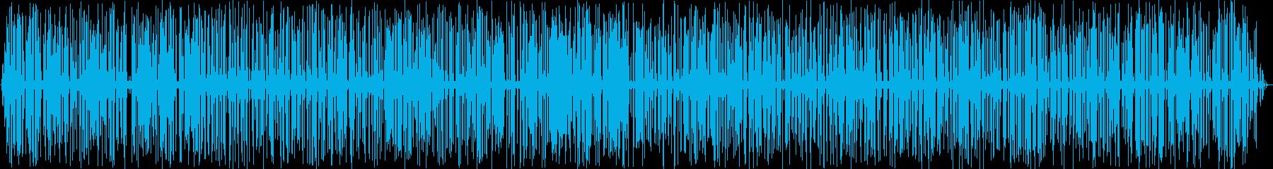 5分間のやさしい雨音・ポツポツの再生済みの波形