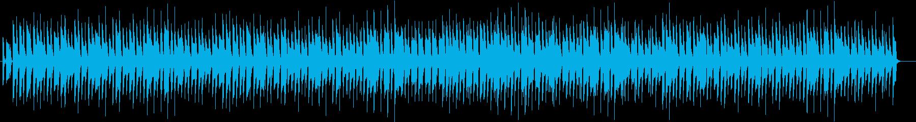 アコーディオンのコミカルなBGMの再生済みの波形