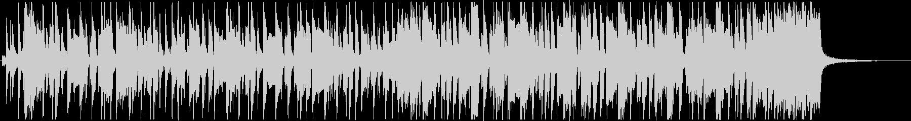 楽しいおしゃれなファンキーベースのBGMの未再生の波形