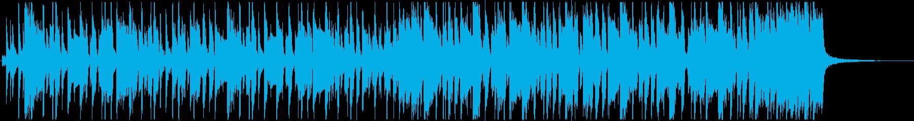 楽しいおしゃれなファンキーベースのBGMの再生済みの波形