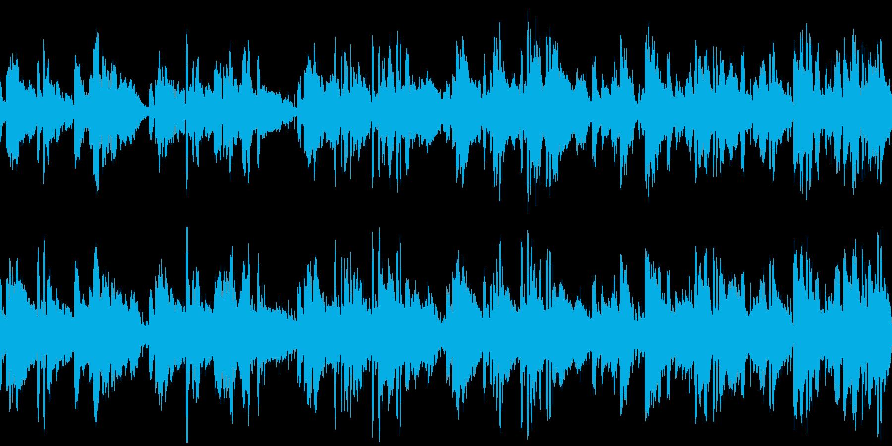 ほのぼのした癒やしケルト曲の再生済みの波形