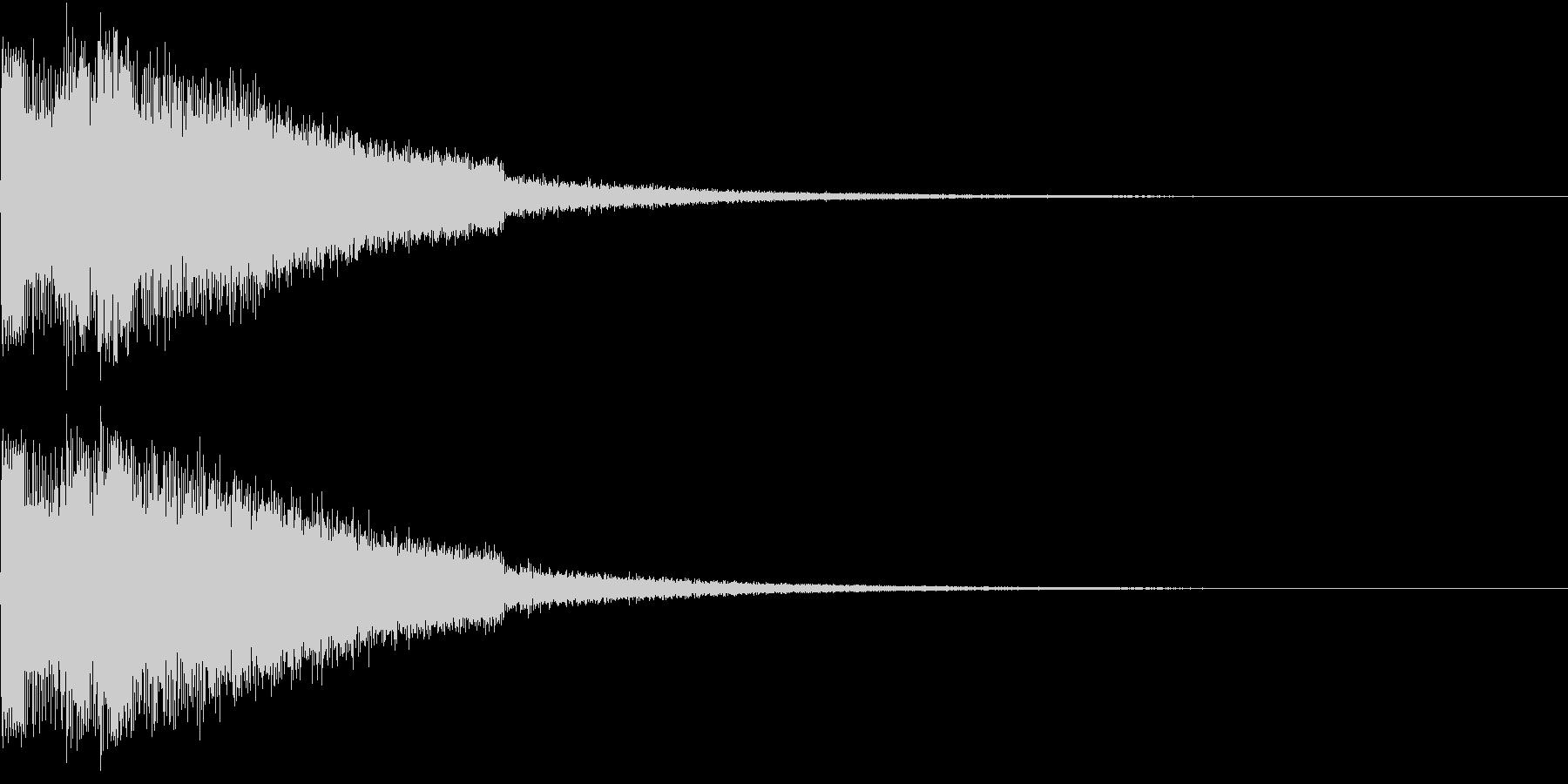 ピキューン ジャンプ ポヨーン Aの未再生の波形