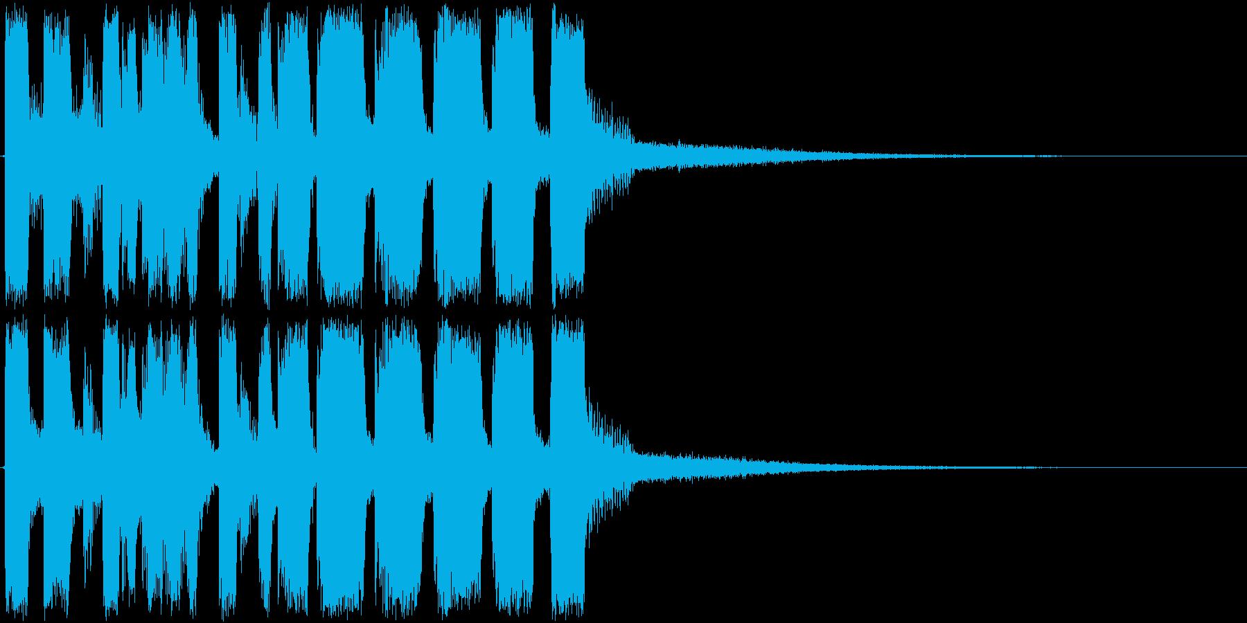アイキャッチ・次回予告・トランペットの再生済みの波形