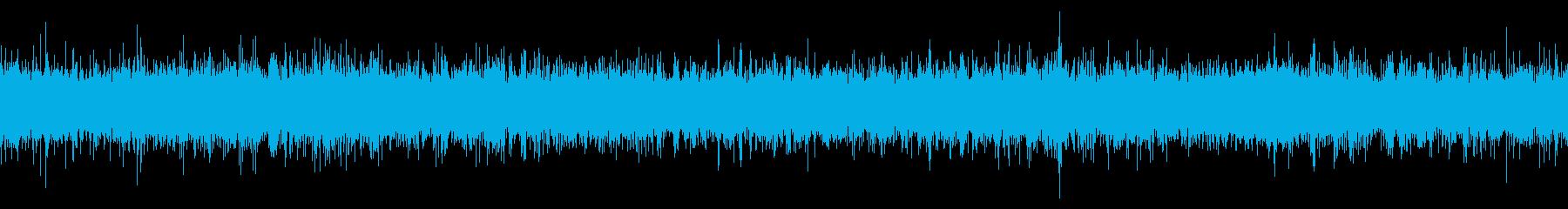 肉を焼く音の再生済みの波形