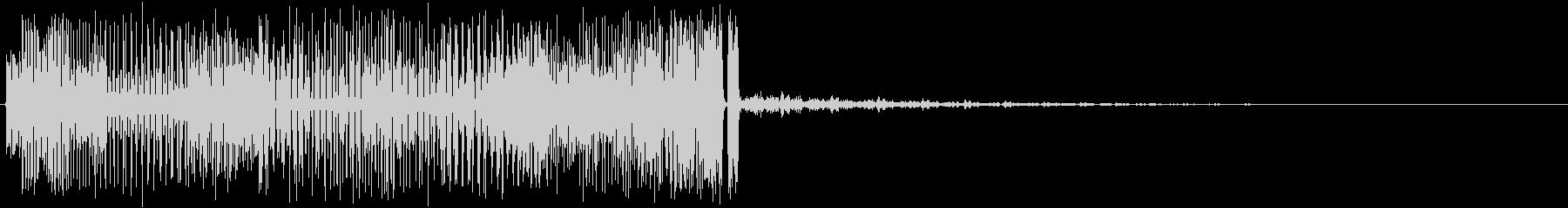 ノイズ音の未再生の波形