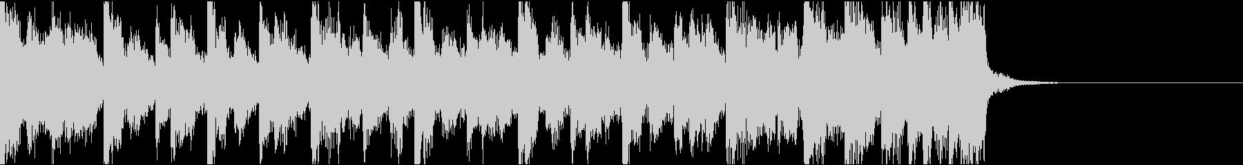 不安定、電子音ダーク/ジングルの未再生の波形