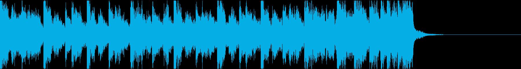 不安定、電子音ダーク/ジングルの再生済みの波形