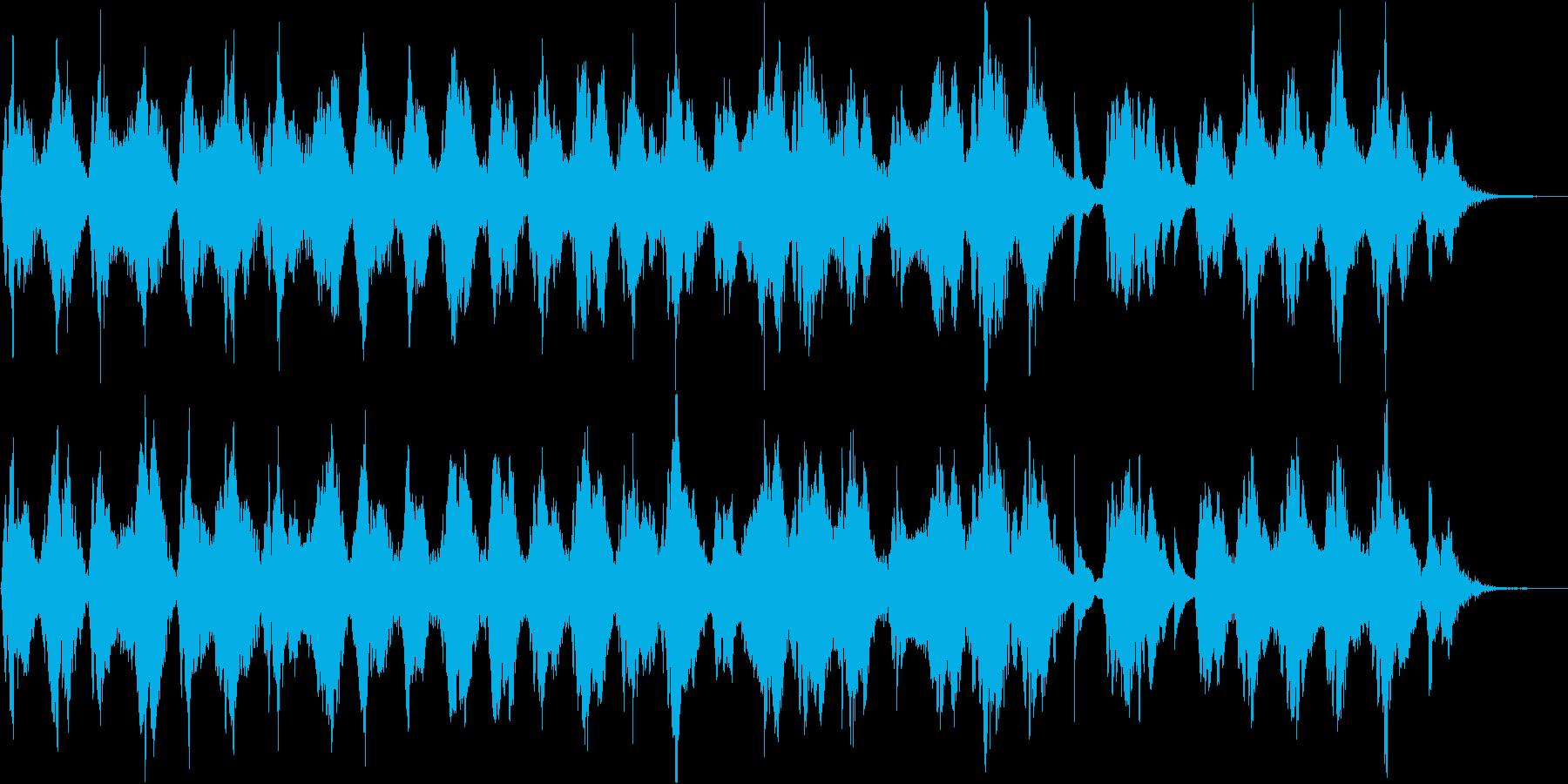 二胡・ピアノによるアンビエンス楽曲の再生済みの波形