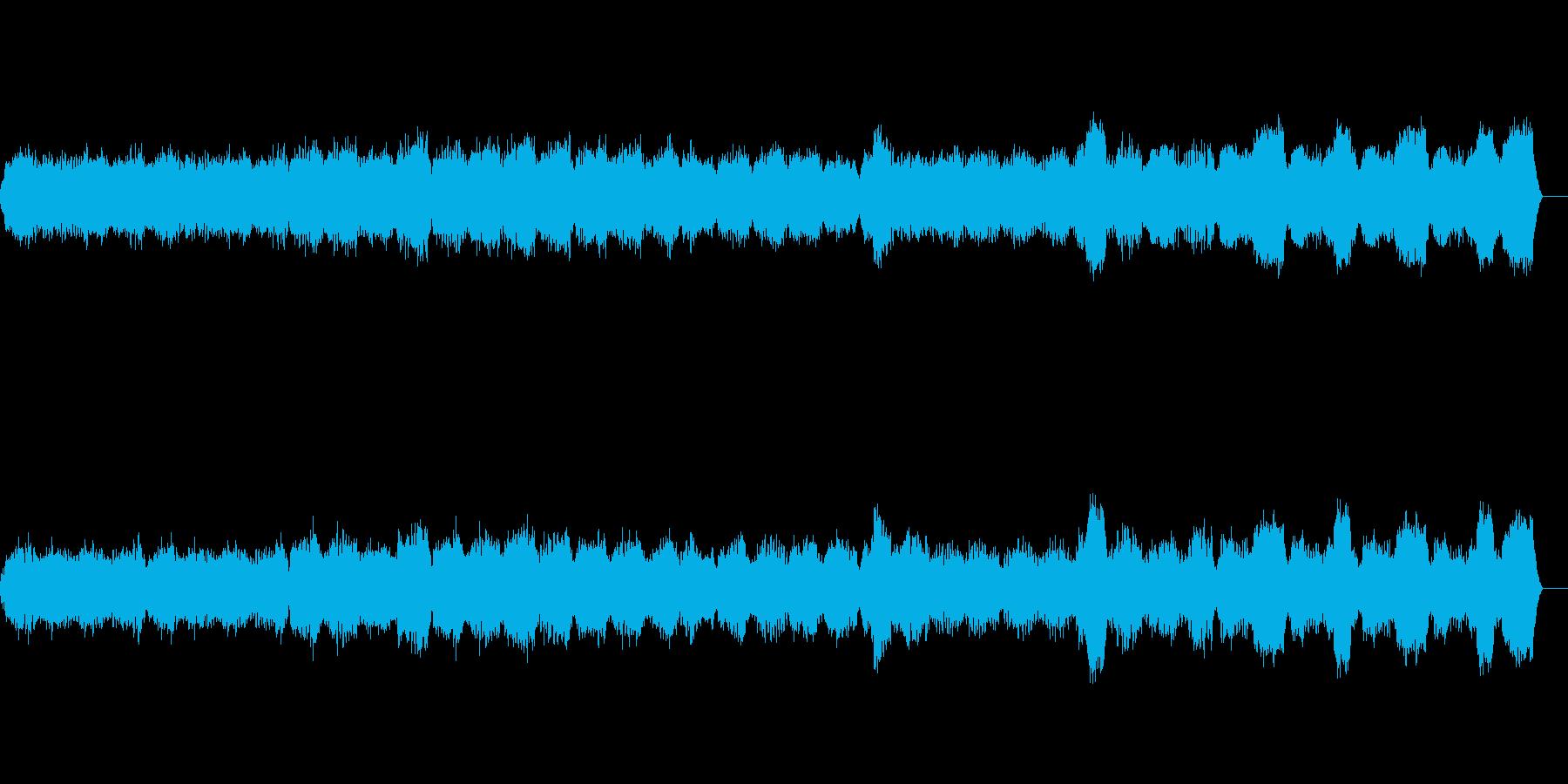 柔らかなシンセの和音が美しい楽曲の再生済みの波形